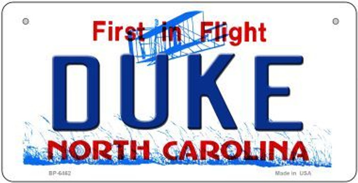 Duke North Carolina Novelty Metal Bicycle Plate BP-6462