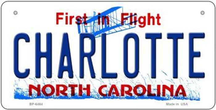 Charlotte North Carolina Novelty Metal Bicycle Plate BP-6464