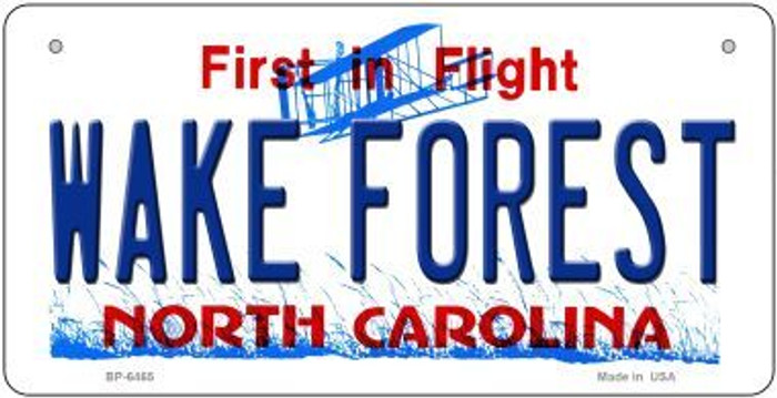 Wake Forest North Carolina Novelty Metal Bicycle Plate BP-6465