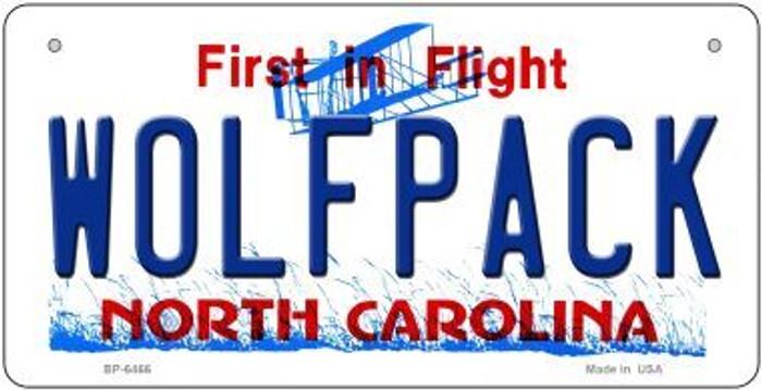Wolfpack North Carolina Novelty Metal Bicycle Plate BP-6466