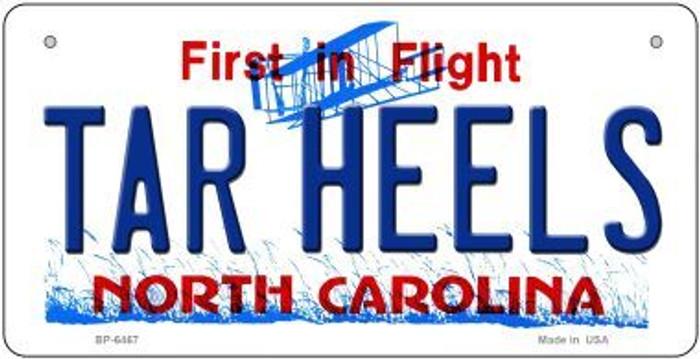 Tar Heels North Carolina Novelty Metal Bicycle Plate BP-6467