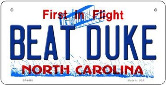 Beat Duke North Carolina Novelty Metal Bicycle Plate BP-6468