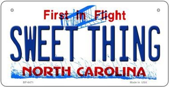 Sweet Thing North Carolina Novelty Metal Bicycle Plate BP-6471