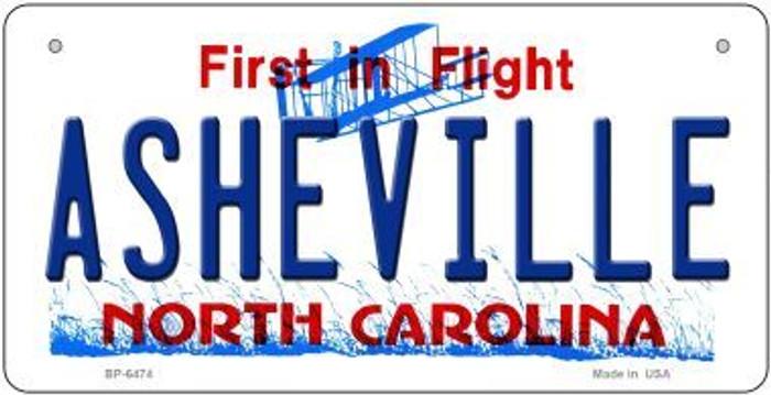Asheville North Carolina Novelty Metal Bicycle Plate BP-6474