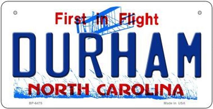 Durham North Carolina Novelty Metal Bicycle Plate BP-6475
