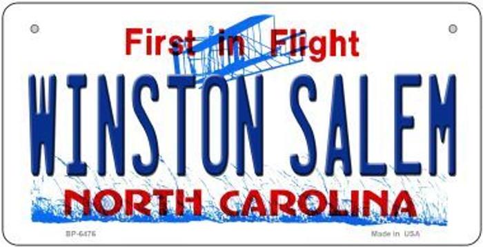 Winston Salem North Carolina Novelty Metal Bicycle Plate BP-6476