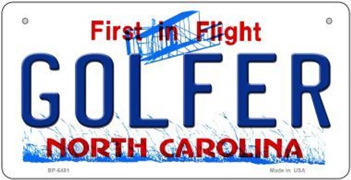 Golfer North Carolina Novelty Metal Bicycle Plate BP-6481