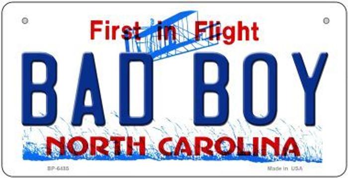 Bad Boy North Carolina Novelty Metal Bicycle Plate BP-6485