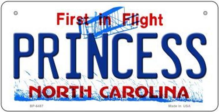 Princess North Carolina Novelty Metal Bicycle Plate BP-6487