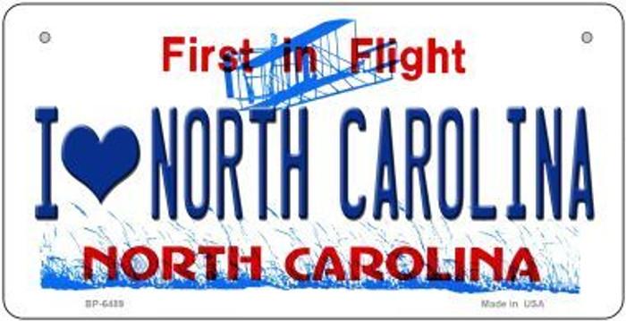 I Love North Carolina Novelty Metal Bicycle Plate BP-6489