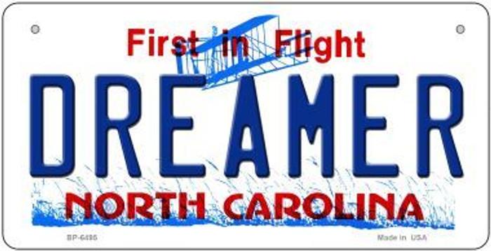 Dreamer North Carolina Novelty Metal Bicycle Plate BP-6495