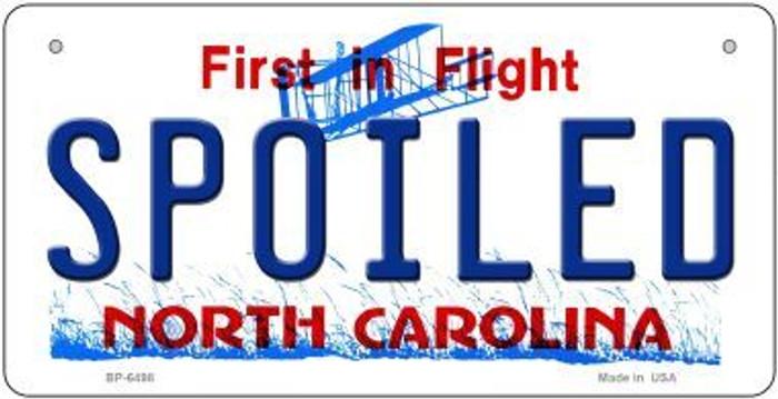 Spoiled North Carolina Novelty Metal Bicycle Plate BP-6498