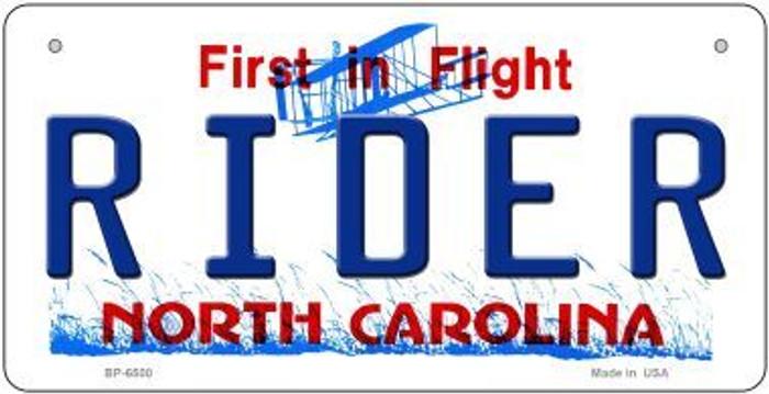 Rider North Carolina Novelty Metal Bicycle Plate BP-6500