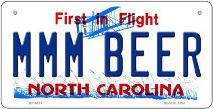 MMM Beer North Carolina Novelty Metal Bicycle Plate BP-6501