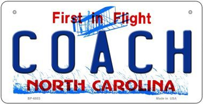 Coach North Carolina Novelty Metal Bicycle Plate BP-6503