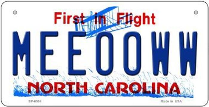 Meeooww North Carolina Novelty Metal Bicycle Plate BP-6504
