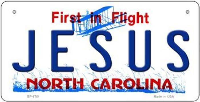 Jesus North Carolina Novelty Metal Bicycle Plate BP-1761