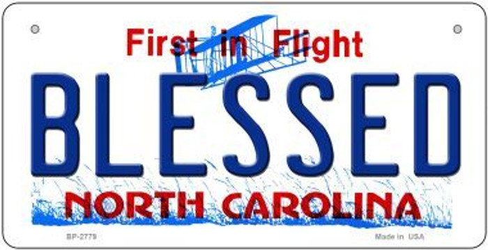 Blessed North Carolina Novelty Metal Bicycle Plate BP-2779