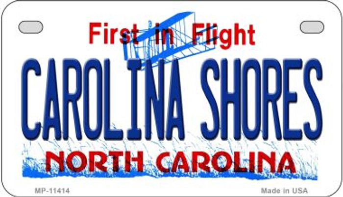 Carolina Shores North Carolina Novelty Metal Motorcycle Plate MP-11414