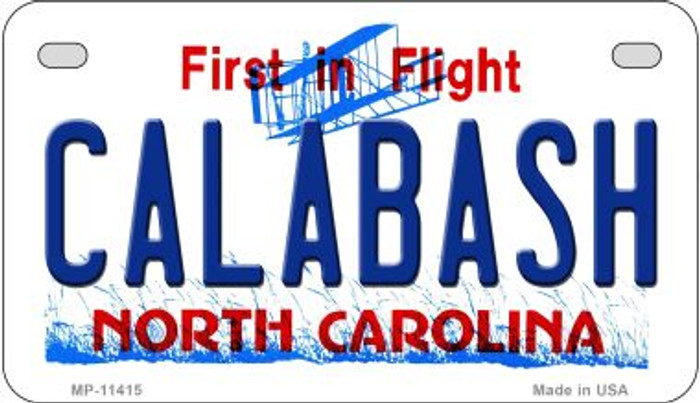 Calabash North Carolina Novelty Metal Motorcycle Plate MP-11415