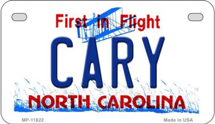Cary North Carolina Novelty Metal Motorcycle Plate MP-11822