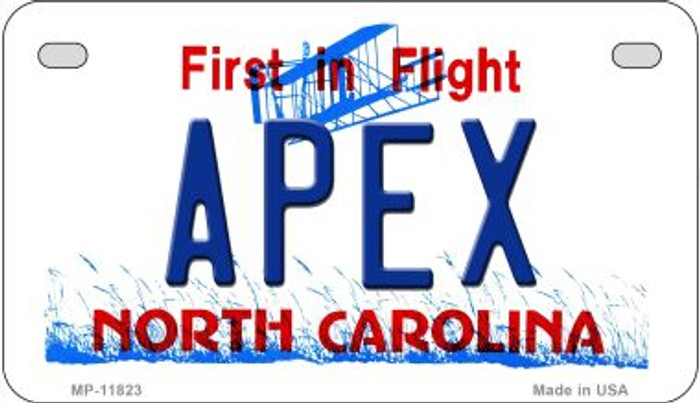 Apex North Carolina Novelty Metal Motorcycle Plate MP-11823