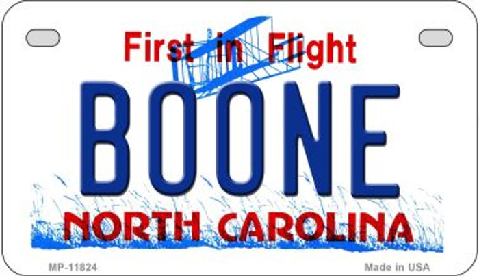 Boone North Carolina Novelty Metal Motorcycle Plate MP-11824