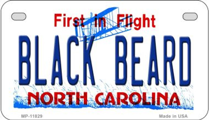 Black Beard North Carolina Novelty Metal Motorcycle Plate MP-11829