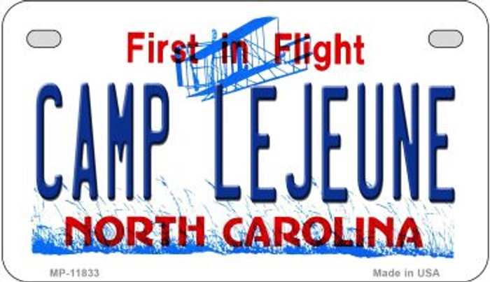 Camp Lejuene North Carolina Novelty Metal Motorcycle Plate MP-11833