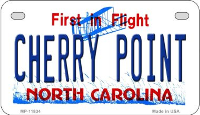 Cherry Point North Carolina Novelty Metal Motorcycle Plate MP-11834