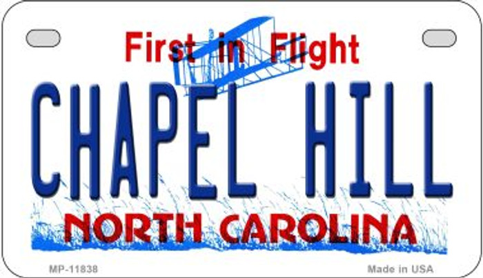 Chapel Hill North Carolina Novelty Metal Motorcycle Plate MP-11838