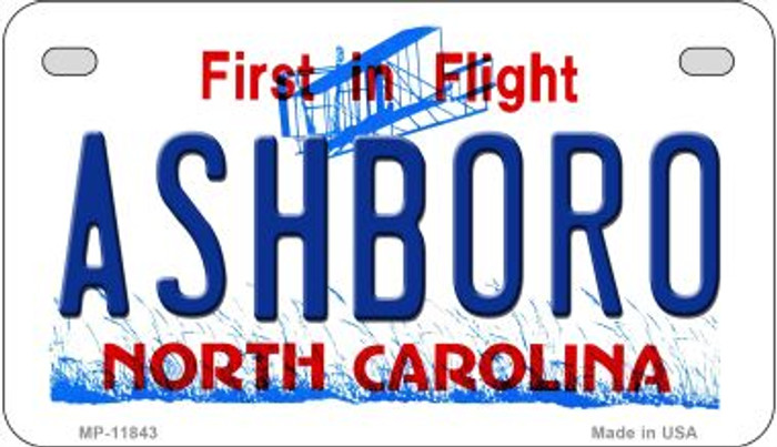 Ashboro North Carolina Novelty Metal Motorcycle Plate MP-11843