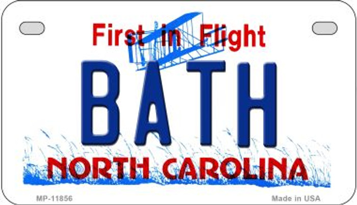 Bath North Carolina Novelty Metal Motorcycle Plate MP-11856