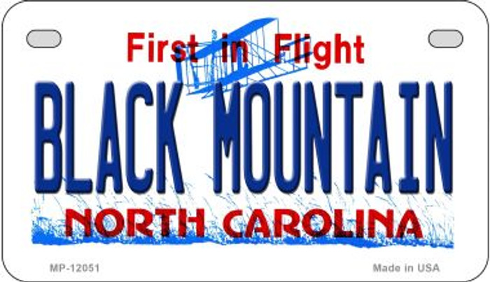 Black Mountain North Carolina Novelty Metal Motorcycle Plate MP-12051