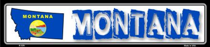 Montana State Outline Novelty Metal Vanity Small Street Sign