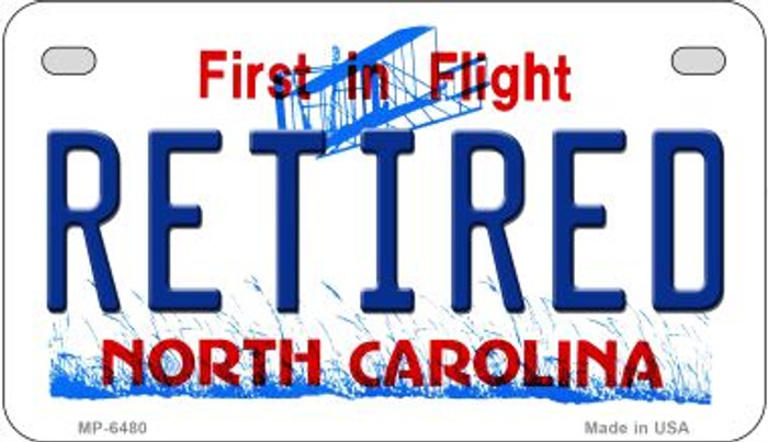 Retired North Carolina Novelty Metal Motorcycle Plate MP-6480