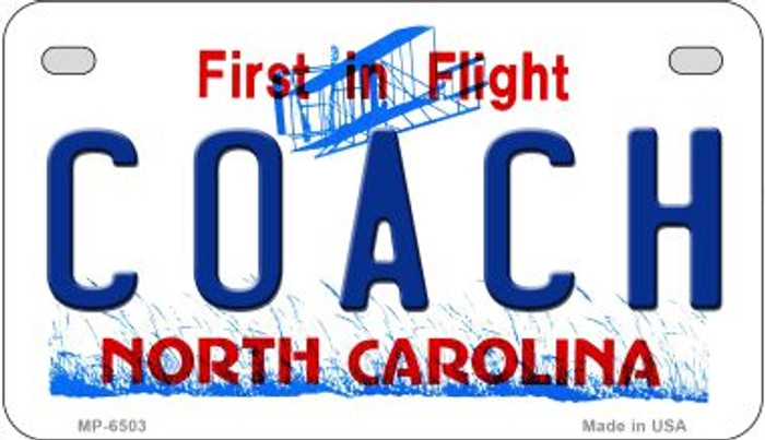 Coach North Carolina Novelty Metal Motorcycle Plate MP-6503