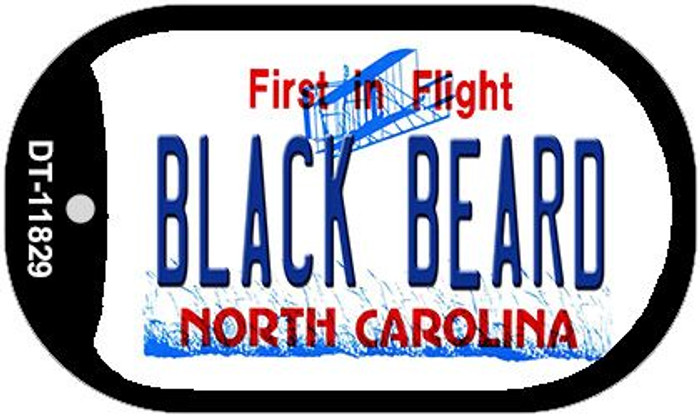 Black Beard North Carolina Novelty Metal Dog Tag Necklace DT-11829