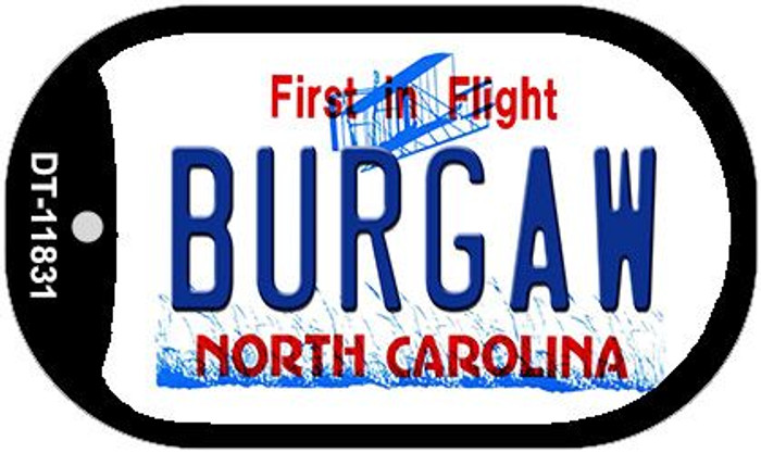 Burgaw North Carolina Novelty Metal Dog Tag Necklace DT-11831