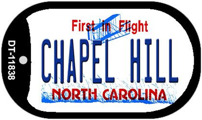 Chapel Hill North Carolina Novelty Metal Dog Tag Necklace DT-11838