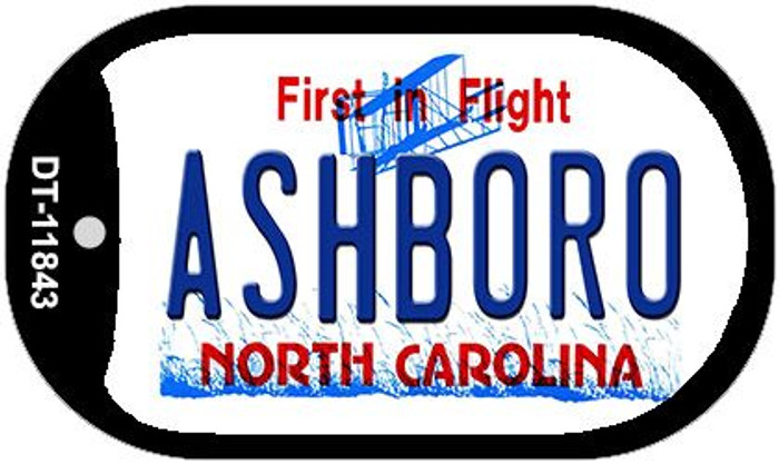 Ashboro North Carolina Novelty Metal Dog Tag Necklace DT-11843