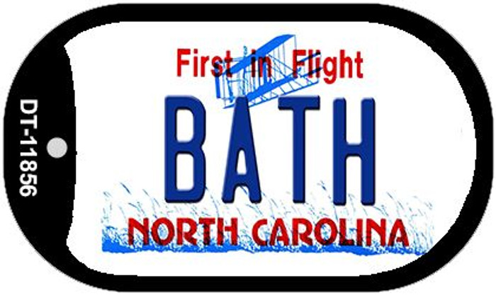 Bath North Carolina Novelty Metal Dog Tag Necklace DT-11856
