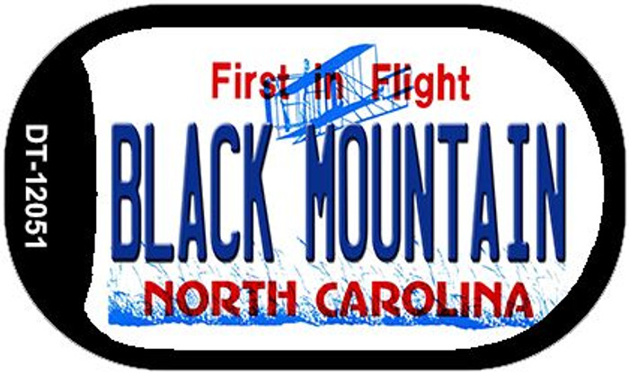 Black Mountain North Carolina Novelty Metal Dog Tag Necklace DT-12051