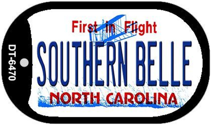 Southern Belle North Carolina Novelty Metal Dog Tag Necklace DT-6470