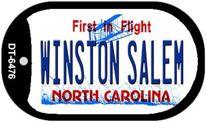 Winston Salem North Carolina Novelty Metal Dog Tag Necklace DT-6476