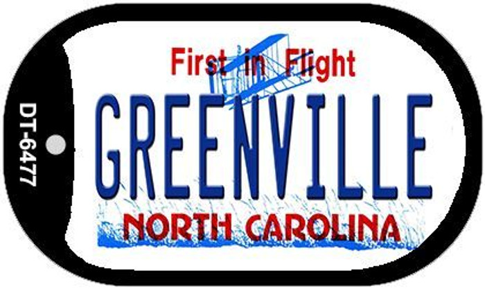 Greenville North Carolina Novelty Metal Dog Tag Necklace DT-6477