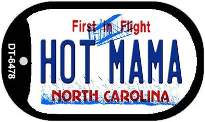 Hot Mama North Carolina Novelty Metal Dog Tag Necklace DT-6478