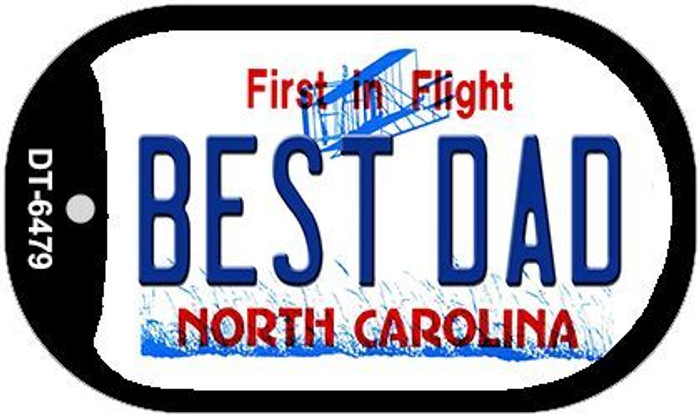 Best Dad North Carolina Novelty Metal Dog Tag Necklace DT-6479