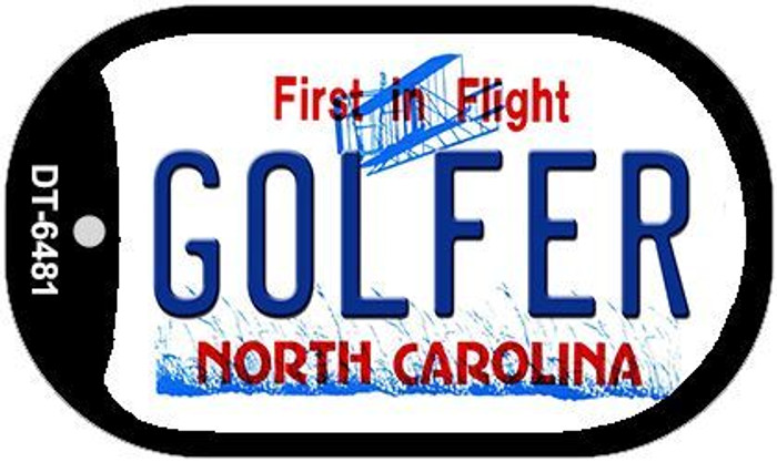 Golfer North Carolina Novelty Metal Dog Tag Necklace DT-6481