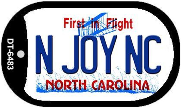 N Joy NC North Carolina Novelty Metal Dog Tag Necklace DT-6483